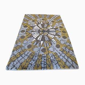 Finnischer Mid-Century Rya Teppich mit abstraktem Muster, 1950er
