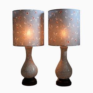 Tischlampen aus Keramik von Pieter Groeneveldt, 1960er, 2er Set