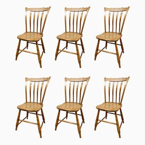 19th Century American Dining Chairs, Set of 6