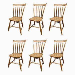 Amerikanische Esszimmerstühle, 19. Jh., 6er Set