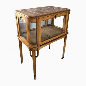 Antique German Brass & Glass Display Cabinet
