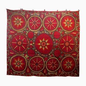 Antiker usbekischer Suzani Wandbehang
