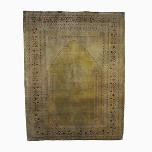 Antique Middle Eastern Silk Carpet