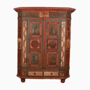 18th Century Austrian Painted Marriage Armoire, 1780s