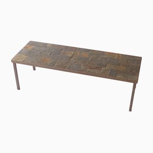 Mid-Century French Slate Coffee Table, 1960s