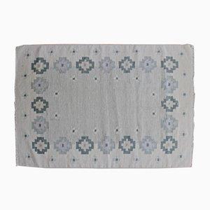 Mid-Century Swedish Flat Weave Carpet from Rölakan, 1960s