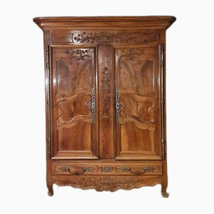 18th Century Carved Walnut Armoire