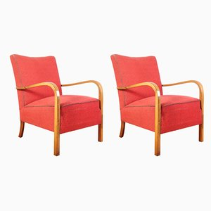 Vintage Walnut B963 Armchairs from Thonet, 1930s, Set of 2