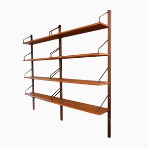 Danish Teak Wall Unit by Poul Cadovius for Cado, 1950s