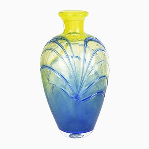 Vintage Czechoslovak Colored Glass Vase by Jiří Šuhájek for Mstišov Moser