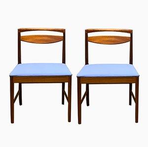 Mid-Century Esszimmerstühle aus Teak von Tom Robertson für McIntosh, 1960er, 2er Set