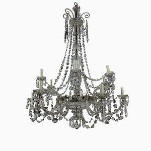 Antiker neoklassizistischer Kronleuchter aus geschliffenem Glas von Perry & Co.