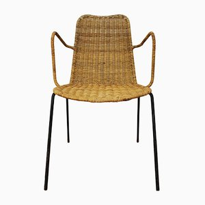 Chaise The Basket en Osier par Gian Franco Legler, 1950s