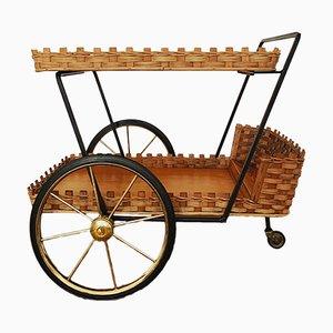 Mid-Century Italian Bar Cart, 1950s