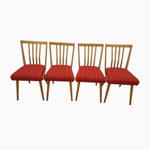 Tschechische Vintage Esszimmerstühle, 1960er, 4er Set
