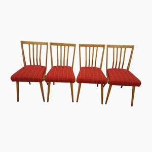 Vintage Czech Dining Chairs, 1960s, Set of 4
