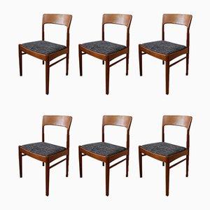 Scandinavian Modern Dining Chairs by Kai Kristiansen for Korup Stolefabrik, 1960s, Set of 6