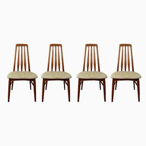 Danish Eva Dining Chairs by Niels Koefoed for Koefoeds Hornslet, 1960s, Set of 4