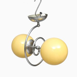 Lámpara de araña Art Déco aerodinámica, años 30