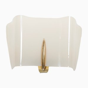 Mid-Century Alraune Brass and Perspex Sconce by J.T. Kalmar, 1950s