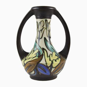 Art Deco Glazed Stoneware Vase from Céramique Montoise, 1930s