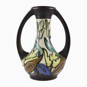 Jarrón Art Déco esmaltado de gres de Céramique Montoise, años 30