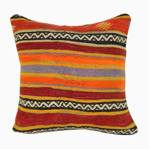 Large Colorful Kelim Sofa Pillow Cover from Vintage Pillow Store Contemporary