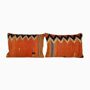 Orangefarbene Kelim Kissenbezüge von Vintage Pillow Store Contemporary, 2er Set