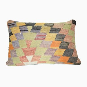 Turkish Lumbar Kilim Pillow Cover from Vintage Pillow Store Contemporary