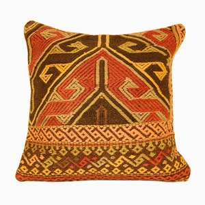 Large Vintage Turkish Handmade Kilim Pillow Cover from Vintage Pillow Store Contemporary