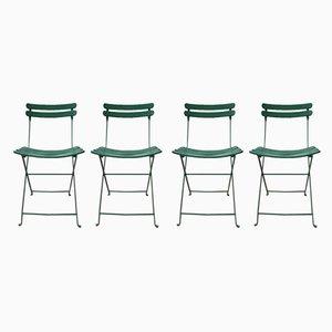 Industrielle französische Gartenstühle aus Schmiedeeisen, 1940er, 4er Set