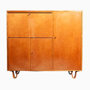 Model CB01 Birch and Veneer Cupboard by Cees Braakman for Pastoe, 1950s