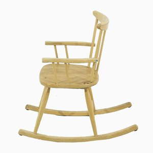 Mid-Century Beech Children's Rocking Chair, 1950s