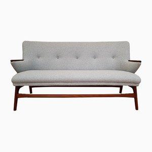 Modernes dänisches Sofa mit Gestell aus Teak & Wollbezug, 1960er