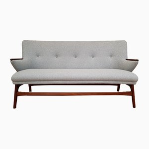 Scandinavian Modern Danish Teak and Wool Sofa, 1960s