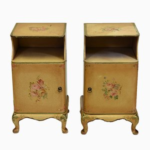 Art Deco British Hand-Painted Cabinets from Decolac, 1930s, Set of 2
