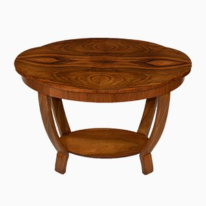 Vintage Art Deco Walnut Side Table, 1930s