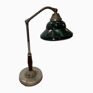Lámpara de mesa italiana industrial de aluminio y baquelita de Lariolux, años 30
