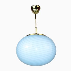 Italian Murano Glass Ceiling Lamp from Venini, 1960s