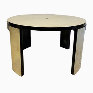Art Deco French Maple and Parchment Side Table, 1940s