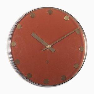 Reloj de pared alemán eléctrico de Telenorma, años 70