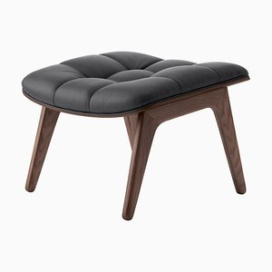 Dark Stained Oak & Anthracite Leather Mammoth Ottoman by Rune Krøjgaard & Knut Bendik Humlevik for Norr11
