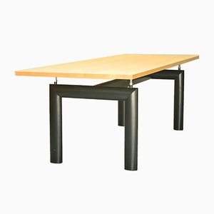 Italian Steel and Ash Dining Table by Le Corbusier for Cassina, 1950s