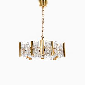 Lámpara de araña de Carl Fagerlund para Orrefors Glassworks