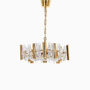 Vintage Chandelier by Carl Fagerlund for Orrefors Glassworks