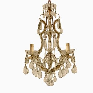 Italian Murano Glass Chandelier, 1950s