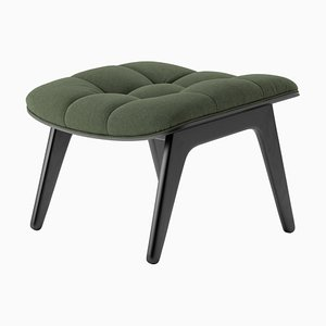 Black Oak & Forest Green Wool Mammoth Ottoman by Rune Krøjgaard & Knut Bendik Humlevik for Norr11