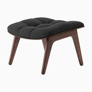 Dark Stained Oak & Coal Grey Wool Mammoth Ottoman by Rune Krøjgaard & Knut Bendik Humlevik for Norr11