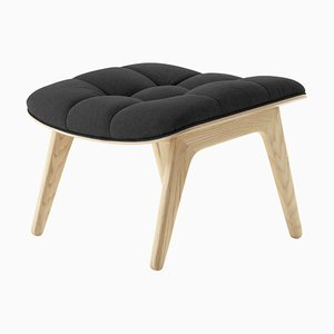 Natural Oak & Coal Grey Wool Mammoth Ottoman by Rune Krøjgaard & Knut Bendik Humlevik for Norr11