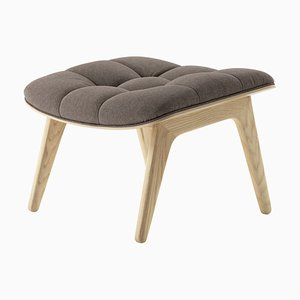 Natural Oak & Fawn Wool Mammoth Ottoman by Rune Krøjgaard & Knut Bendik Humlevik for Norr11